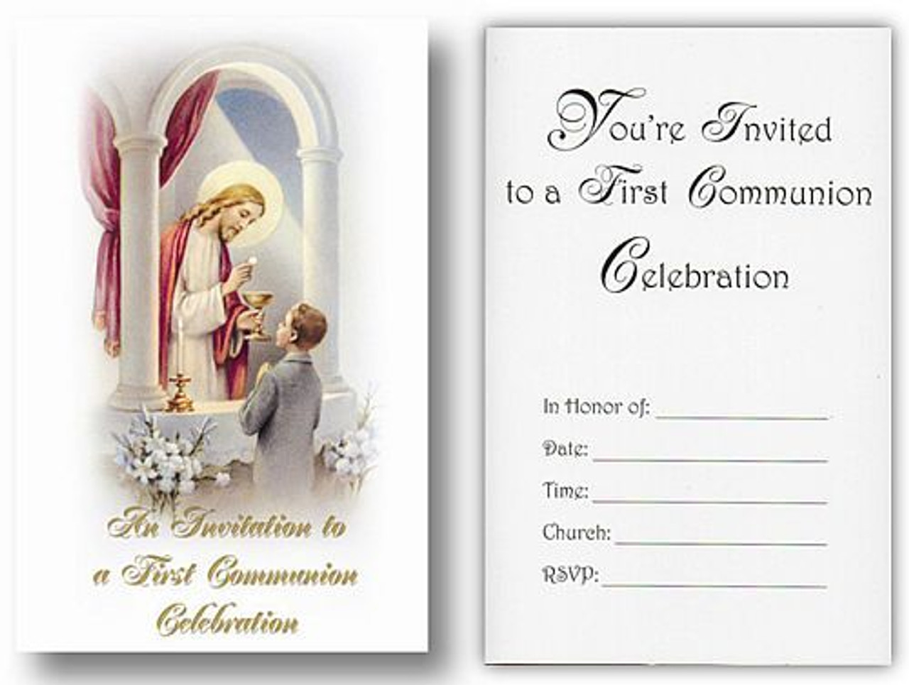 Jesus Boy First Communion Invitation 3 1 4 X 5 8 Count