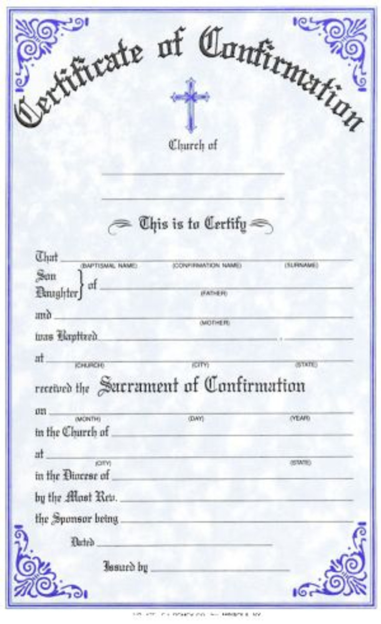 Confirmation Forms Certificate Style 175