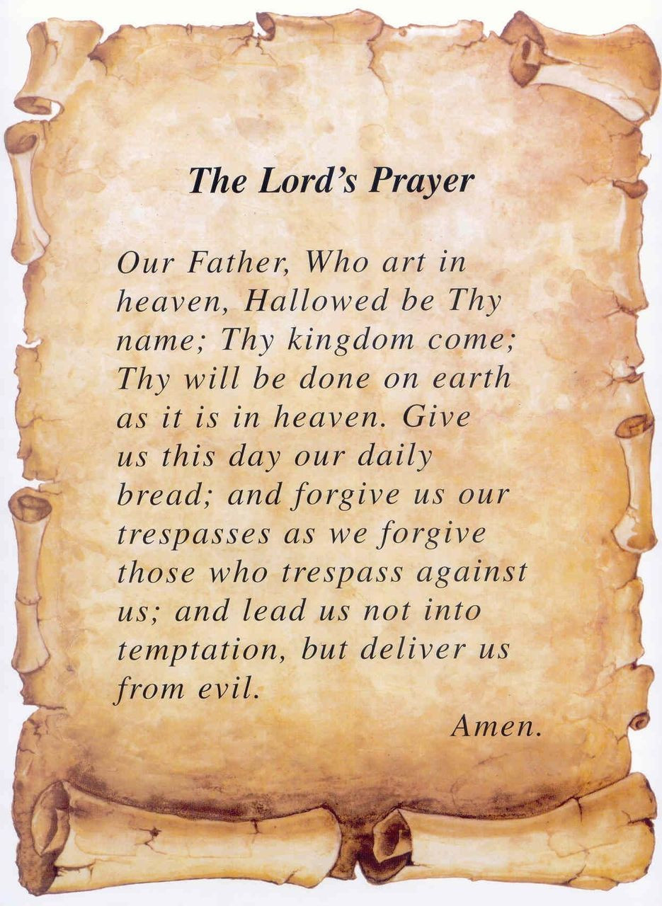 graphic about Printable Lords Prayer titled Revised Lords Prayer - Print Just