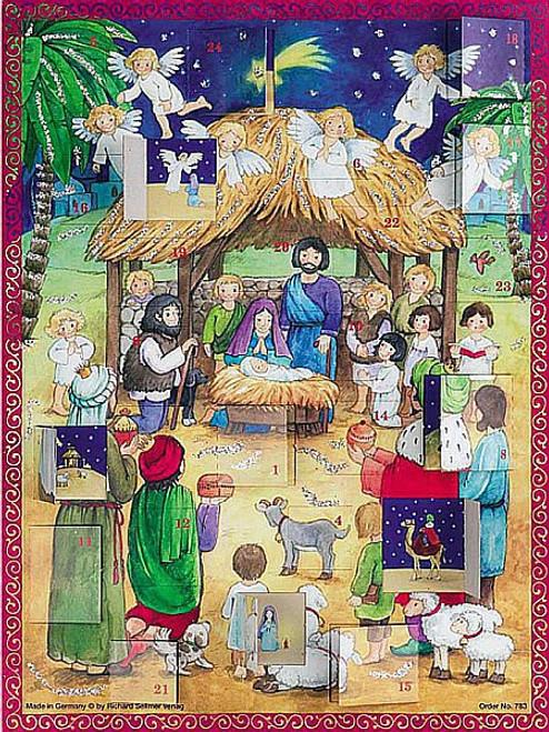 Nativity Advent Calendar Paper Numbered Windows Scenes 10 1