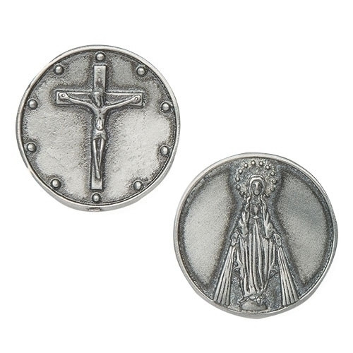 Rosary Pocket Token | Crucifix | Blessed Mother | 1-1/4"
