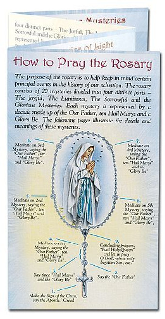 Pray the Rosary | Pamphlet | Trifold | Prayers Mysteries