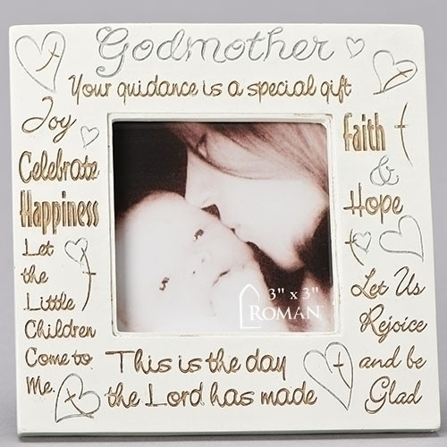 Godmother Frame | Inspirational Phrases Collage | 3x3 Photo | Resin | 92319