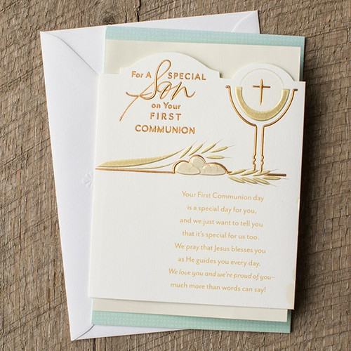 First Communion Son Greeting Card Style Op80882 Fc Ziegler Company