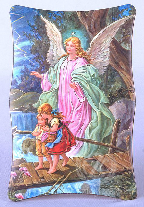 Plaque Guardian Angel With Child Style Fara02 Fc Ziegler Company