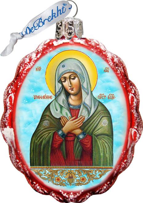 Maria Magdalena Christmas Ornament Hand Painted Glass 3 1 4 F C Ziegler Company