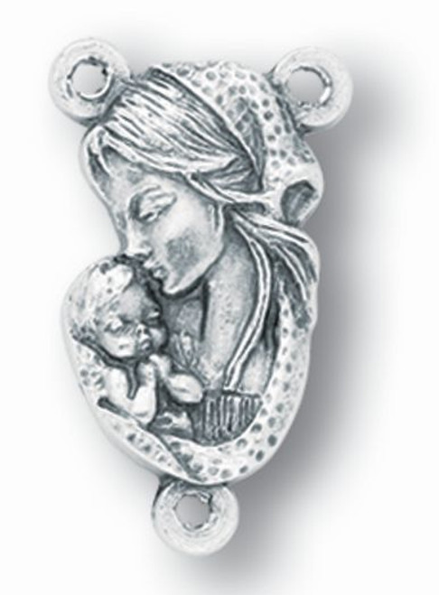 """Blessed Mother Rosary Centerpiece 