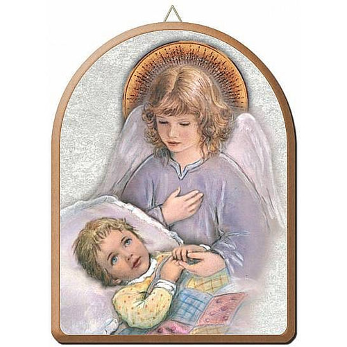 Guardian Angel With Children On Bridge Print Only Size 8 X 10