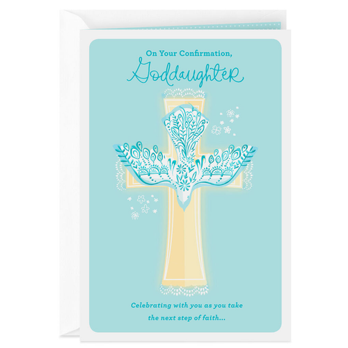 for A Special Goddaughter On Your Communion Day Church Design Greeting Card