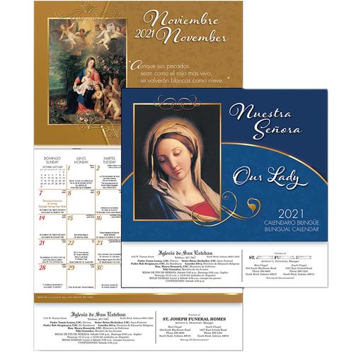 Calendario Master 2021 2021 Nuestra Señora   Our Lady Calendar   Bilingual   12 Month