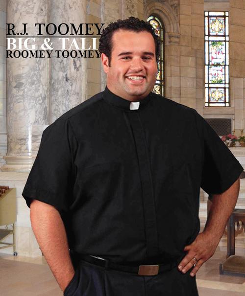 3a77efd135 Clergy Shirt | Neckband Collar | Short Sleeve | Toomey - F.C. ...