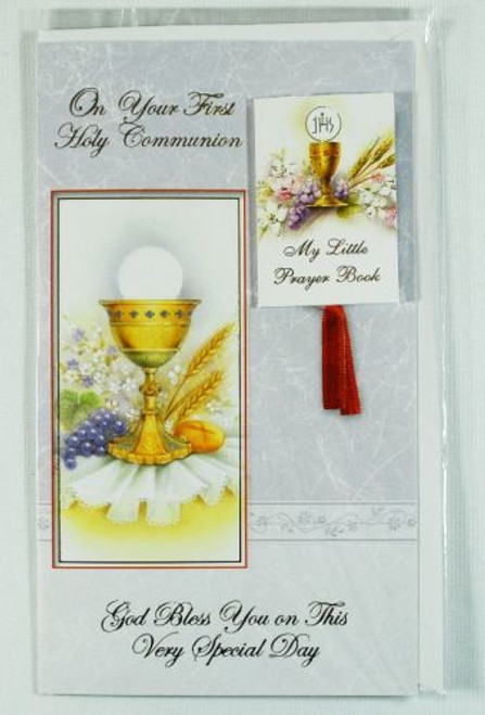 First Communion Greeting Card Removable Prayer Book Blessed