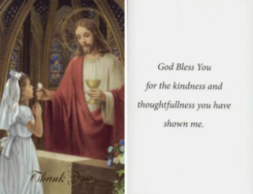 Christ Girl First Communion Thank You Note 3 1 4 X 5 8