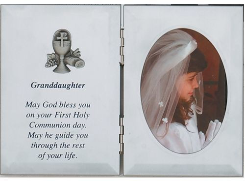 Granddaughter Blessing Communion Photo Frame Blessed Sacrament