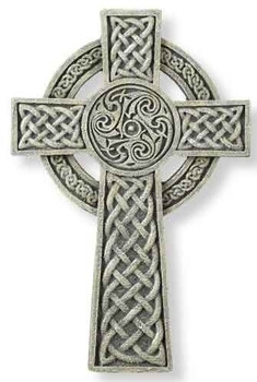 with Blue Stone or Celt High Cross Necklace with Red Stone Trinity Knot Cross