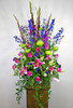 Bright and Beautiful Funeral Basket in Rockville MD, Palace Florists