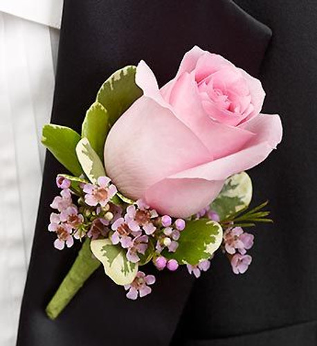 Standard Pink Rose Boutonniere in Rockville MD and Washington DC, Palace Florists