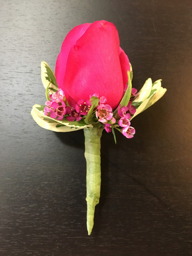 Hot Pink Rose Boutonniere in Rockville MD, Palace Florists