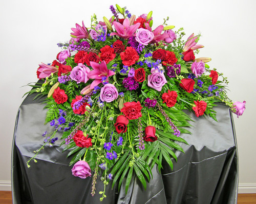 Loving Thoughts Casket Spray in Rockville MD, Palace Florists
