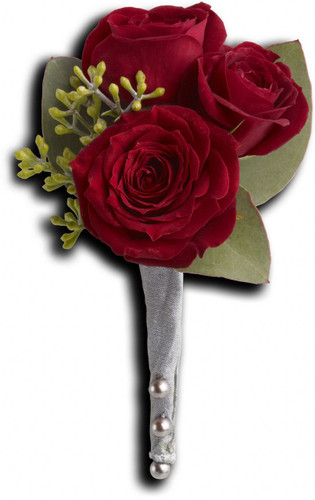King's Red Rose Boutonniere in Rockville MD and Washington DC, Palace Florists