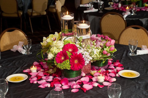 Palace's Bat Mitzvah Flowers in Pinks and Greens