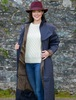 Donegal Ladies Waterproof Full Length Coat - Navy