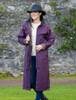 Jack Murphy Donegal Ladies Waterproof Full Length Coat -Blackberry