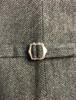 Boys Traditional Waistcoat - Grey Herringbone - clasp
