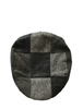 Heritage Patchwork Flat Cap – Multi Grey Blue - Sample Patch
