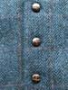 Classic Tweed Waistcoat - Denim & Rust Check  - Buttons