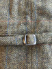 Irish Tweed Herringbone Waistcoat - Brown & Red Check- belt
