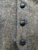 Irish Tweed Herringbone Waistcoat - Brown & Red Check- Buttons