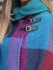 Shawl Collar Herringbone Poncho - Donegal Red