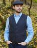 Donegal Tweed Waistcoat - Navy Fleck