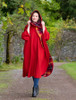 Donegal Tweed Pure Wool Country Walking Cape - Red