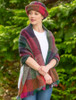 Wool Country Stole - Multi-Mulberry scarf style