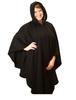 Tara Cashmere Blend Hooded Cape - Black