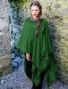 Lambswool Celtic Ruana Wrap - Emerald Green