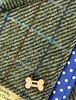 Tweed Doggy Neckerchief Bandana - Two-Tone Green & Blue