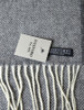Lambswool Scarf - Grey Herringbone