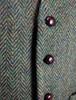 Donegal Tweed Waistcoat - Green