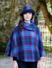 Ladies Tweed Clodagh Cap - Navy Red Plaid