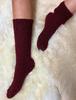 Wool Socks - Burgundy