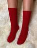 Wool Socks - Red