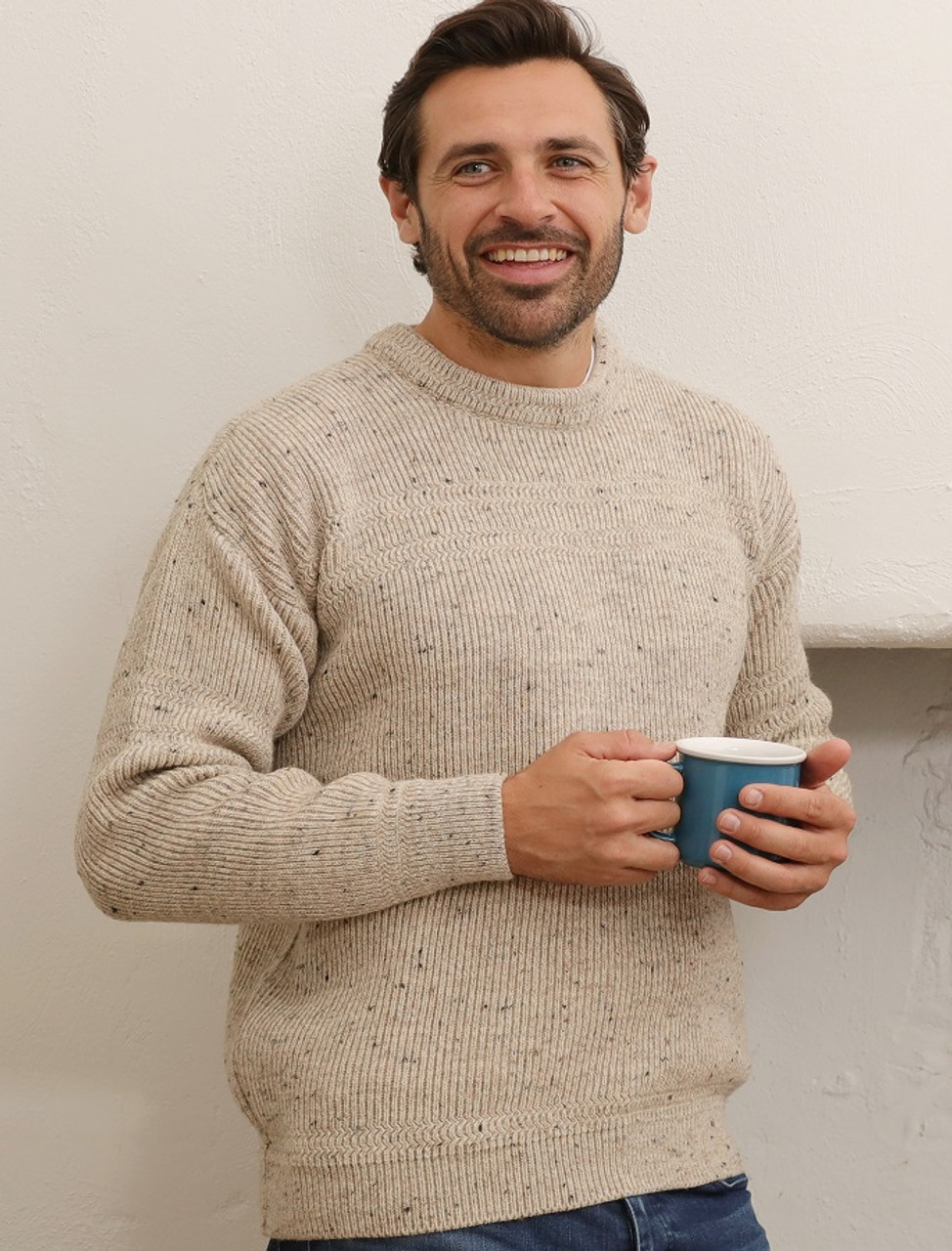 Worsted Wool Mens Hillwalker Sweater