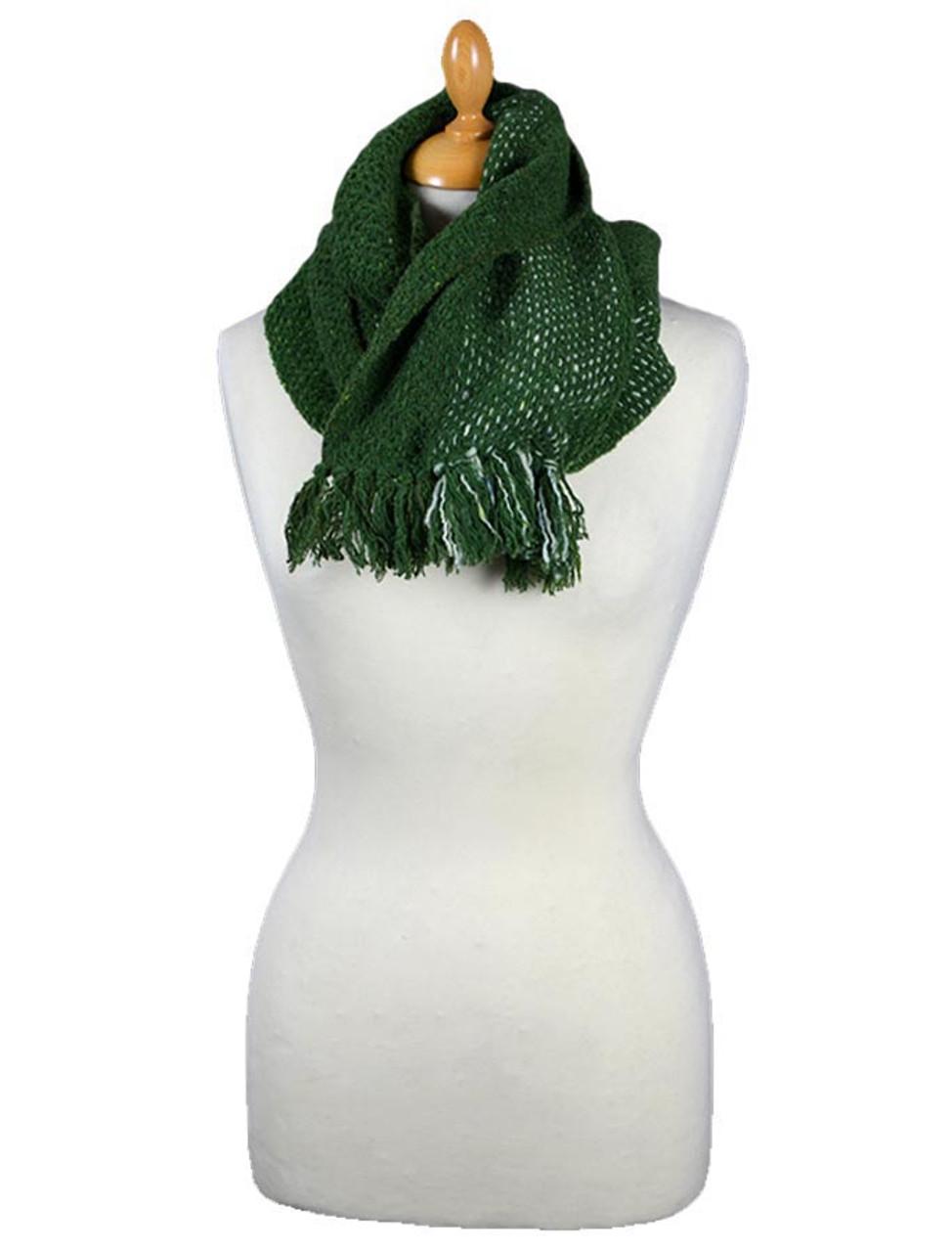 4093d275077f0 Infinity Scarf - Green | Killarney Weavers for Aran Sweater Market