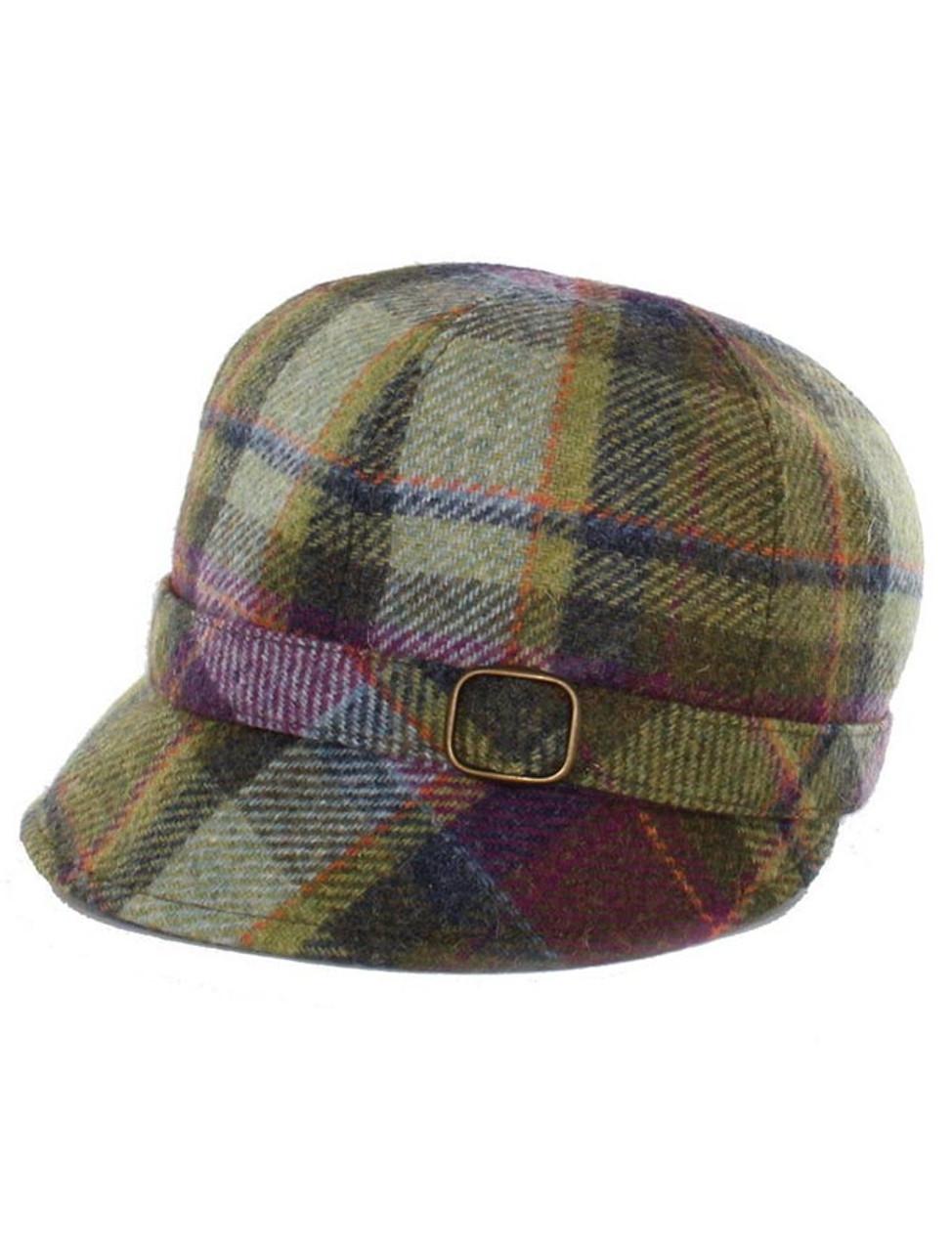 d9d2394cd74 Ladies Tweed Flapper Cap - Multi Vernal Plaid