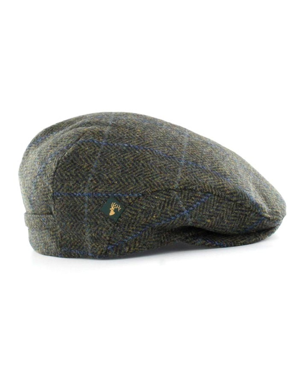 b88d3ab2 Trinity Tweed Flat Cap - Forest Green with Blue | Mucros Weavers