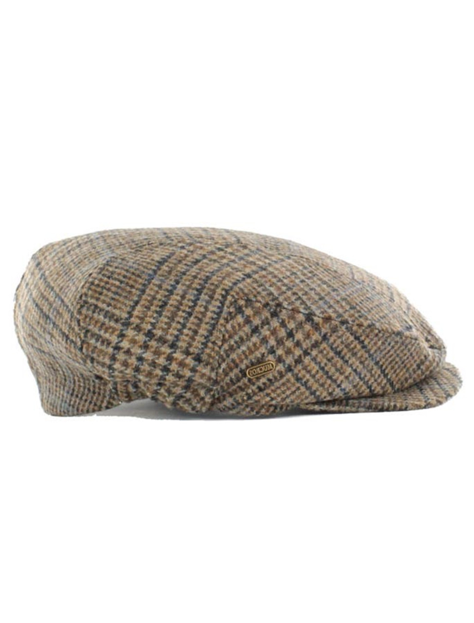 1cfb5e08585 Kerry Tweed Flat Cap - Brown Check