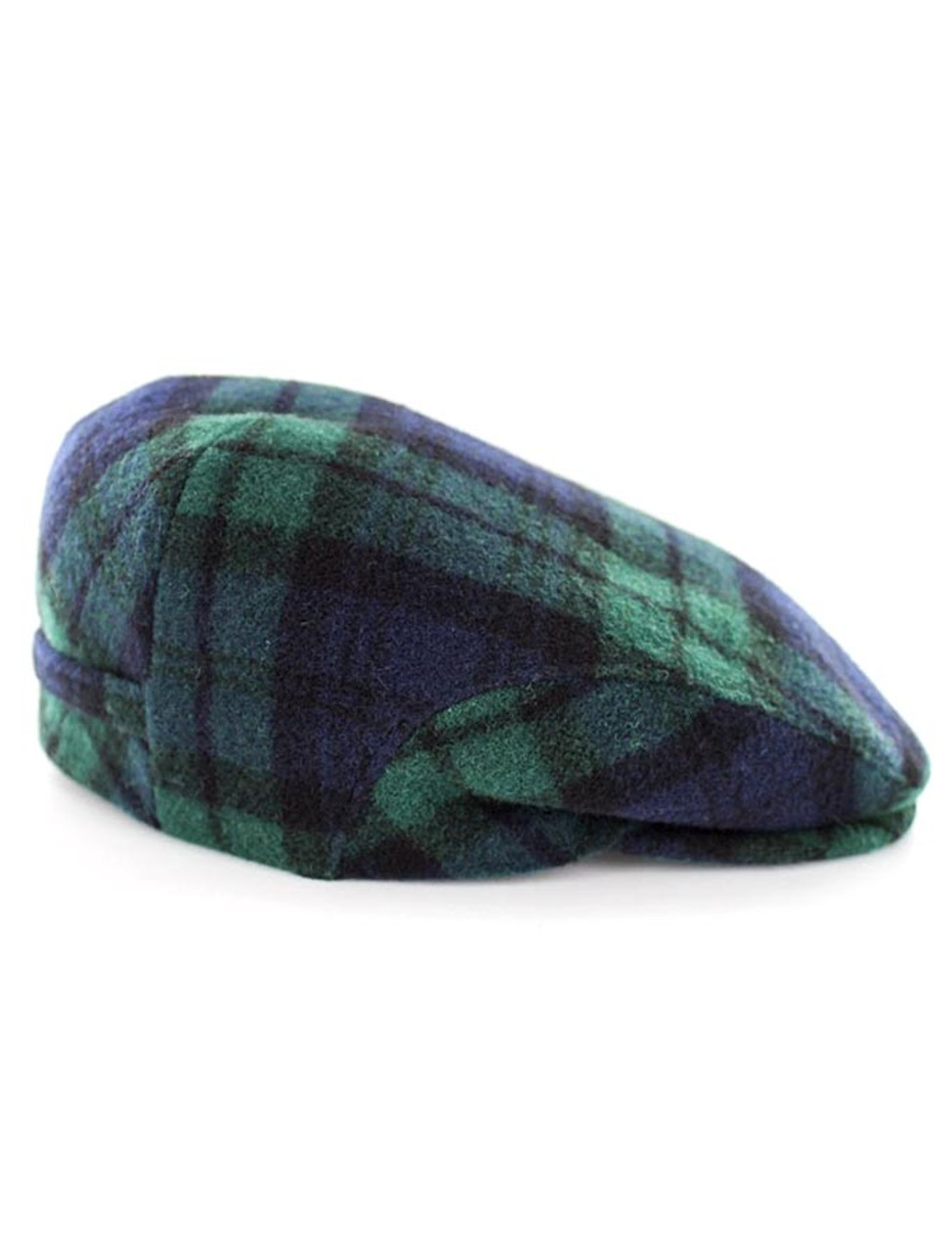 cec71e5139cdd Trinity Tweed Flat Cap - Navy Green Plaid
